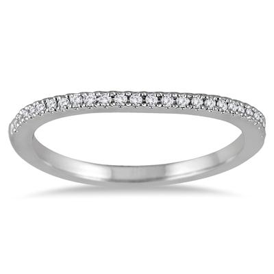1/8 Carat TW Diamond Band in 14K White Gold