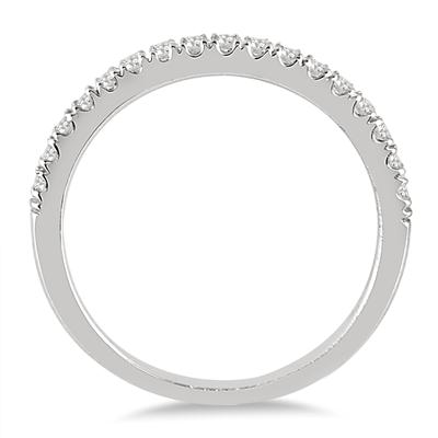 1/3 Carat TW Diamond Wedding Band in 10K White Gold