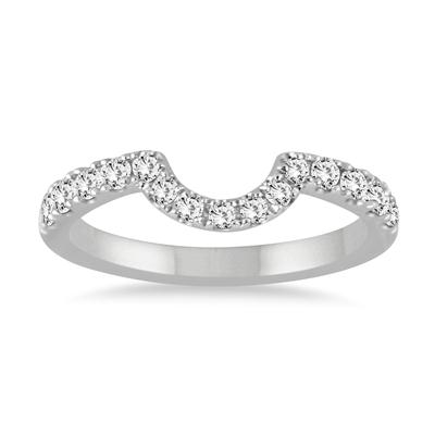 1/3 Carat TW CURVED DIAMOND WEDDING BAND IN 14K WHITE GOLD
