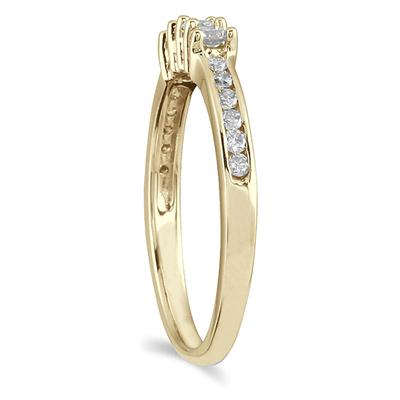 1/3 Carat TW Diamond Wedding Band in 10K Yellow Gold