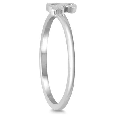 Stackable Ampersand Ring in 14k White Gold