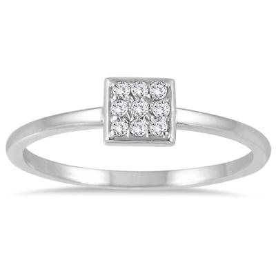 Stackable Diamond Ring 14k White Gold