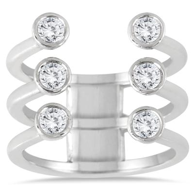 5/8 Carat TW Open Diamond Fashion Ring in 14K White Gold