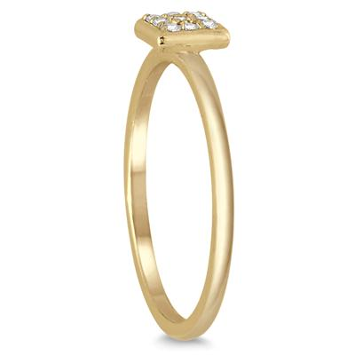 Stackable Diamond Ring 14k Yellow Gold