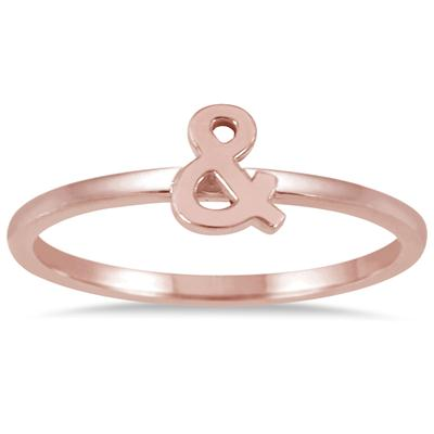Stackable Ampersand Ring in 14k Pink Gold