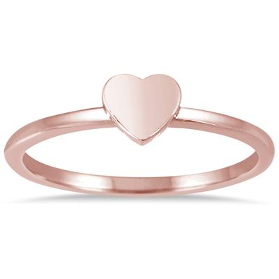 Stackable Heart Ring in 14K Pink Gold