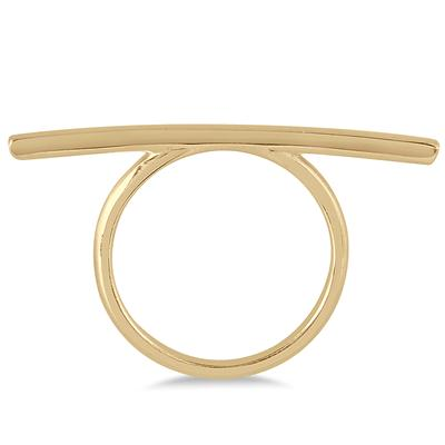 Stackable Bar Ring in 14K Yellow Gold