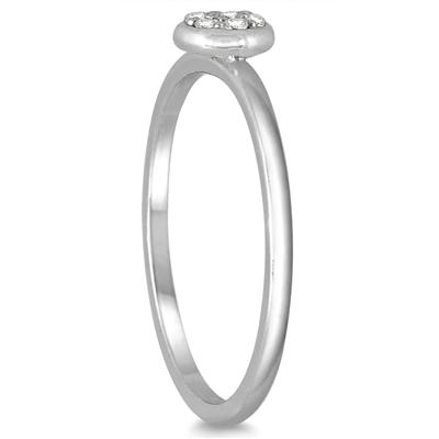 Stackable Diamond Ring in 14k White Gold