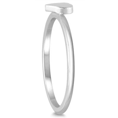 Stackable Heart Ring in 14K White Gold