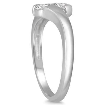 1/2 Carat TW Two Stone Diamond Ring in 14K White  Gold