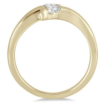 1/2 Carat TW Two Stone Diamond Ring in 14K Yellow Gold