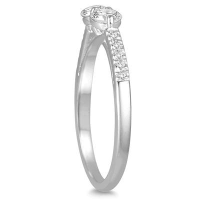 5/8 Carat TW Two Stone Diamond Ring in 14K White Gold