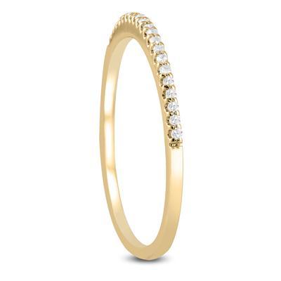 1/10 Carat TW Diamond Wedding Band in 14K Yellow Gold