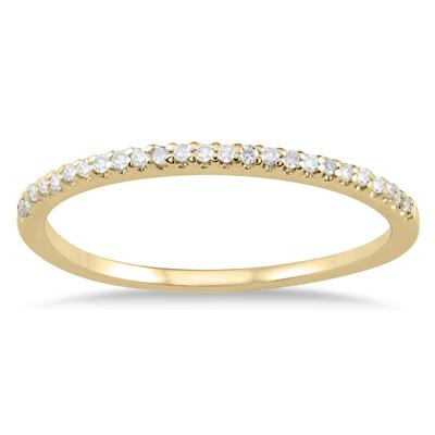 1/10 Carat TW Diamond Wedding Band in 10K Yellow Gold
