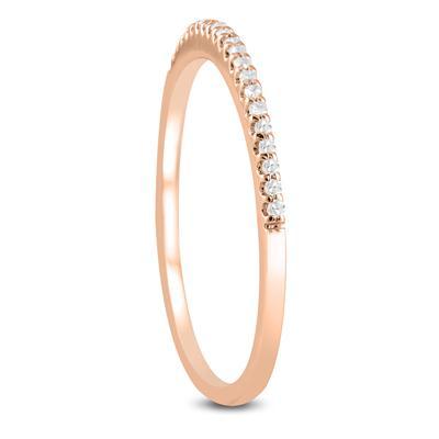 1/10 Carat TW Diamond Wedding Band in 10K Rose Gold