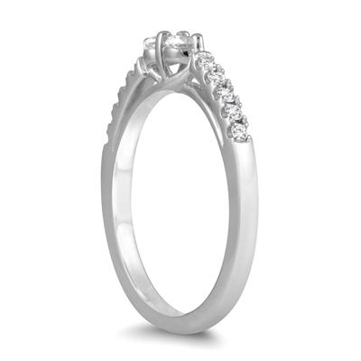 3/8 Carat TW Two Stone Diamond Ring in 10K White Gold