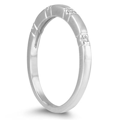 Stackable Diamond Ring in 10k White Gold