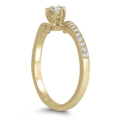 1/2 Carat TW Two Stone Diamond Ring in 10K Yellow Gold