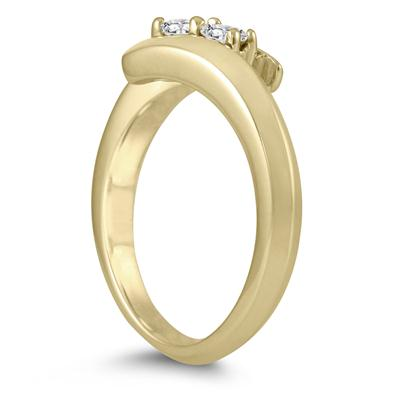 1/4 Carat TW Two Stone Diamond Ring in 10K Yellow Gold