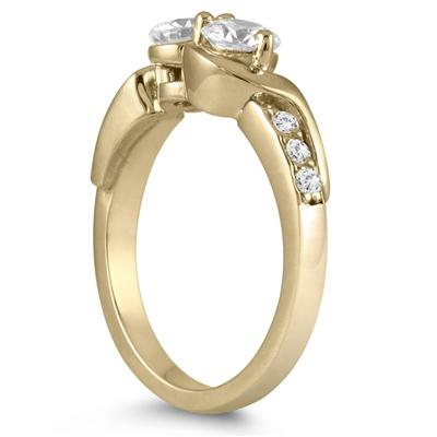 7/8 Carat TW Two Stone Diamond Ring in 14K Yellow Gold