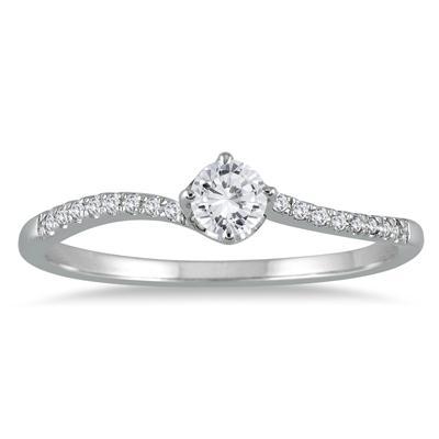 1/5 Carat TW Diamond Ring in 10K White Gold
