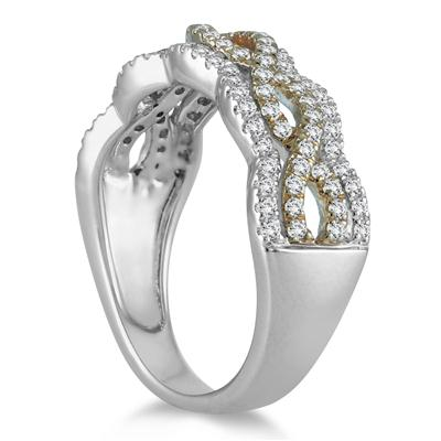 5/8 Carat TW Diamond Two Toned Ring in 10K Gold