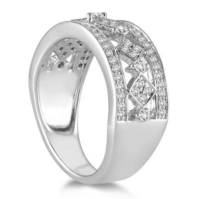 1/2 Carat TW Diamond Byzintine Inspired Ring in 10K White Gold