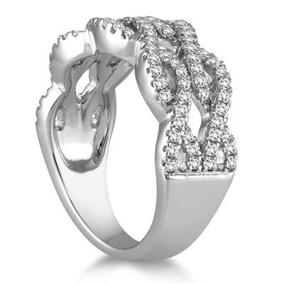 5/8 Carat TW Diamond Fashion Ring in 10K White Gold