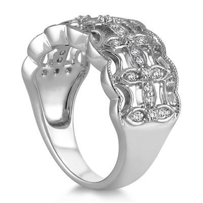 1/4 Carat TW Diamond Fashion Ring in 10K White Gold