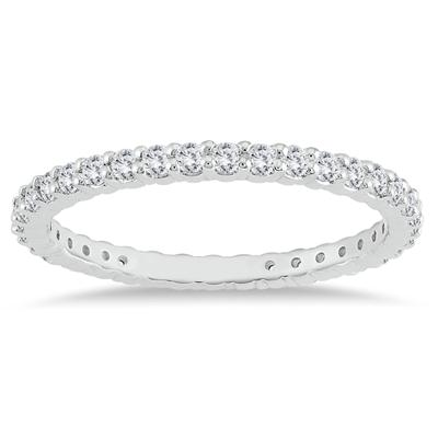 14K White Gold Diamond Eternity Band (.48 - .57 CTW)