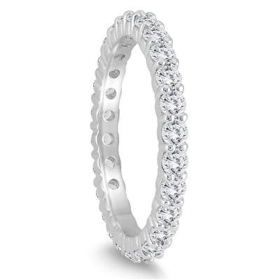 AGS Certified Diamond Eternity Band in 14K White Gold (1.15 - 1.40 CTW)