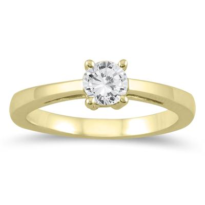 1/2 Carat Classic Diamond Solitaire Ring in 10K Yellow Gold