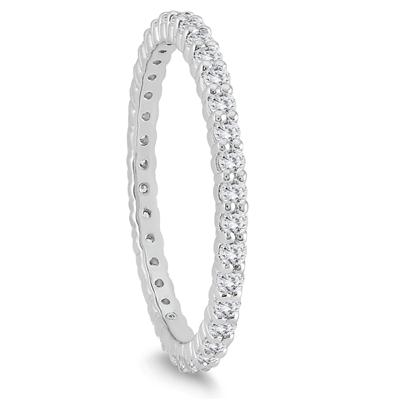 10K White Gold Diamond Eternity Band (.48 - .57 CTW)