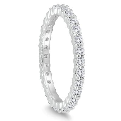 Diamond Eternity Band in 10K White Gold (.81 - .99 CTW)