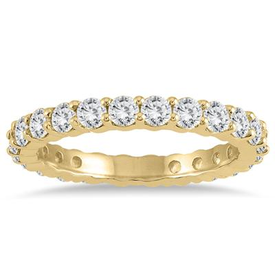 AGS Certified Diamond Eternity Band in 14K Yellow Gold (1.47 - 1.82 CTW)