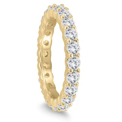 AGS Certified Diamond Eternity Band in 14K Yellow Gold (1.90 - 2.30 CTW)