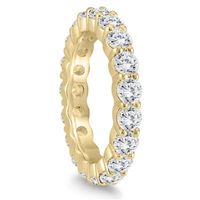 AGS Certified Diamond Eternity Band in 14K Yellow Gold (2.55 - 3 CTW)