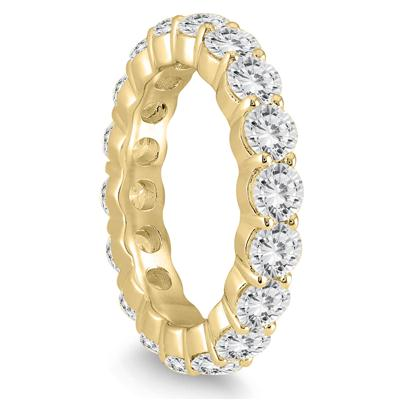 AGS Certified Diamond Eternity Band in 14K Yellow Gold (3.20 - 3.80 CTW)