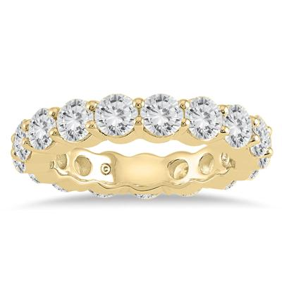 AGS Certified Diamond Eternity Band in 14K Yellow Gold (3.75 - 4.25 CTW)