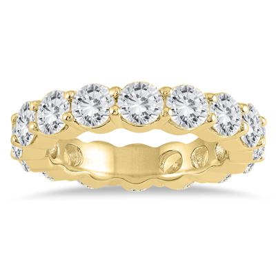 AGS Certified Diamond Eternity Band in 14K Yellow Gold (4.62 - 5.61 CTW)