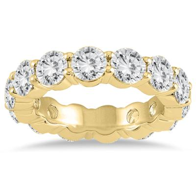 AGS Certified Diamond Eternity Band in 14K Yellow Gold (5.85 - 6.75 CTW)