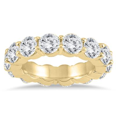 AGS Certified Diamond Eternity Band in 14K Yellow Gold (6 1/2 - 7 1/2 CTW)