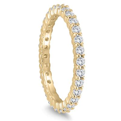 Diamond Eternity Band in 10K Yellow Gold (.81 - .99 CTW)