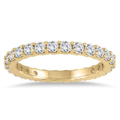 1c8469f5d9c58e AGS Certified Diamond Eternity Band in 10K Yellow Gold (1.15 - 1.40 CTW) -  RGF56775