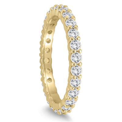 AGS Certified Diamond Eternity Band in 10K Yellow Gold (1.15 - 1.40 CTW)