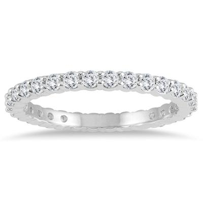 Diamond Eternity Band in 14K White Gold (.81 - .99 CTW)