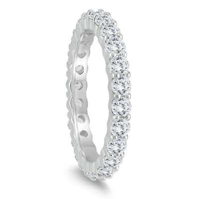 AGS Certified Diamond Eternity Band in 14K White Gold (1.47 - 1.82 CTW)