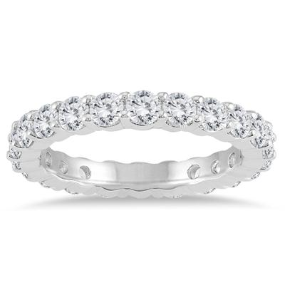 AGS Certified Diamond Eternity Band in 14K White Gold (1.90 - 2.30 CTW)