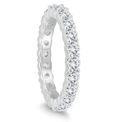 9600eae5f0d40c AGS Certified Diamond Eternity Band in 14K White Gold (1.90 - 2.30 CTW)