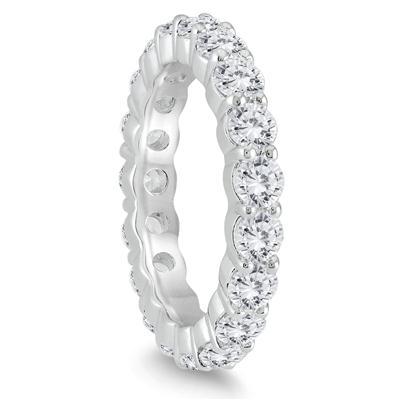 AGS Certified Diamond Eternity Band in 14K White Gold (2.55 - 3 CTW)